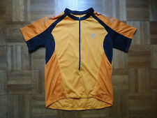 Cannondale Bicycle Jersey mens XL L Orange 2 Tone w/ Black Leisure Fit 2/3 Zip