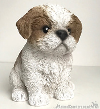 More details for vivid arts pet pals beige & white shih tzu puppy ornament dog lover gift, boxed