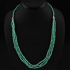 GORGEOUS MOST EXCLUSIVE 140.00 CTS NATURAL BEST GREEN AMAZONITE BEADS NECKLACE