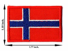 Norway Flag Nation Football Sport Size M Logo Applique Iron on Patch Sew