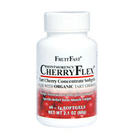 CherryFlex Softgels from FruitFast, made with Organic Montmorency Tart Cherries