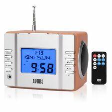 August UKW Radiowecker Uhrenradio mit 2x 3W Lautsprechern USB und SD Slot B-WARE