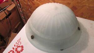 Antique Cast Glass Gravity Light Fixture Bowl- Restored