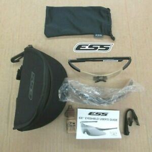 New U.S. Military Issue ESS ICE Shooting / Safety Glasses w/ Clear / Dark Lens