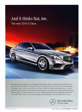 2014 Mercedes Benz E350 E-Class Original Advertisement Print Art Car Ad J888