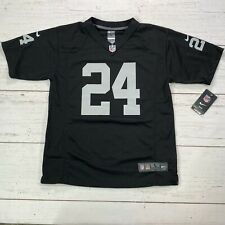 Nike Oakland Raiders Marshawn Lynch On Field Youth Jersey Large 14/16 New