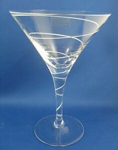CLEARANCE!! Rare KROSNO 1970s CRYSTAL SPIRAL COCKTAIL MARTINI Glass Collectable