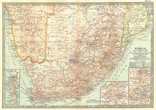 SOUTH AFRICA. Botswana, Namibia; Cape Town, Johannesburg, Ladysmith 1903 map