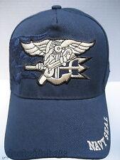 U.S Navy Seals Cap/Hat w/Shadow & Insignia Blue Military Free Shipping