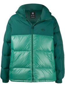 Adidas Men's Down Regen Hooded Blocked Puffer Jacket, Collegiate Green