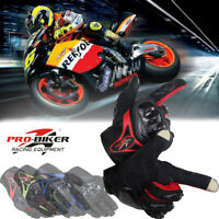Pro-Biker Summer Breathable Motorcycle Motorbike Bike Racing Full Finger Gloves