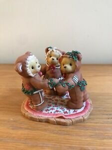Cherished Teddies - MISSY, COOKIE & RILEY. 🎄Christmas Bear Friendship Ornament