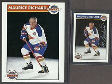"1992-93 Zellers Maurice Richard ""Signature Series"" AND Large Promo Card"