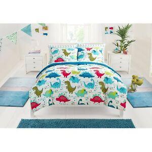 Mainstays KIDS Dino Roar Bed In A Bag Bedding Set BOYS Comforter Dinosaur FULL