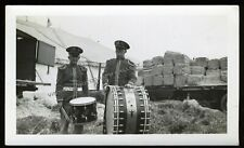 Antique Snapshot Photo Circus Musicians Drummers Phila PA 1948