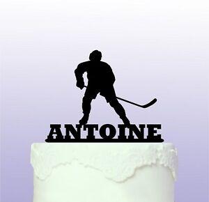 Personalised Ice Hockey Acrylic Cake Topper