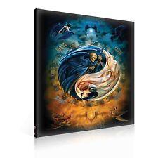 Leinwandbild Canvas Print Wandbild Fotoleinwand Leben und Tod Gotik Yin & Yang