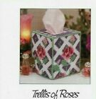 TRELLIS OF ROSES TISSUE COVER HOME DECOR PLASTIC CANVAS PATTERN INSTRUCTIONS