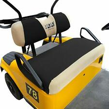 Golf Cart Bench Seat Cover Set Fit for EZGO TXT & RXV, Polyester Mesh Cloth