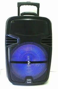 """12"""" 3600 watts Rechargeable PA Speaker +USB/SD/LED +Free microphone"""