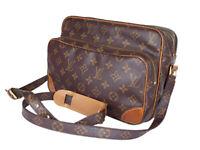 LOUIS VUITTON Vintage Nile Monogram Canvas Crossbody Shoulder Bag LS2973