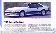 1987 Ford Mustang Saleen 5.0 Liter Info/Specs/photo/price 11x8