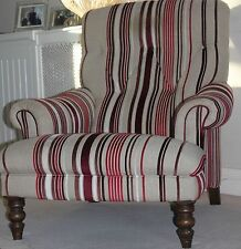 John Lewis Striped Armchairs
