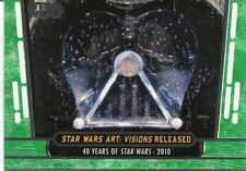Star Wars 40th Anniversary Green Base Card #94 Star Wars Art: Visions Released