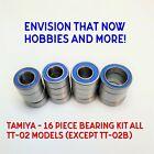 TAMIYA - 16 Piece Rubber Seal Bearing Kit All TT-02 Models (Except TT-02B)