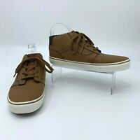 Vans Shoes Youth Boys Size 7 Casual Mid-Top Synthetic Leather Tan Mocha Brown