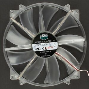 Cooler Master | 200x200mm Refurbished Clear 3-Pin Fan Red LED | DF2003012SELN