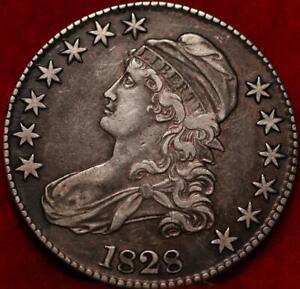1828 Philadelphia Mint Silver Capped Bust Half Dollar