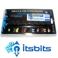 MBEAT 7 PORT USB POWERED HUB 4x USB 3.0 + 3x USB 2.0 INDIVIDUAL SWITCHES 3 AMP