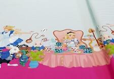 Stoff Jersey Bedruckt Bordüre Alice im Wunderland Panel Baumwolle rosa 18€/m