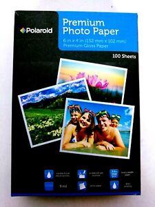 Polaroid Premium Photo Paper 6 X 4 Inch Premium Gloss Paper 100 Sheets