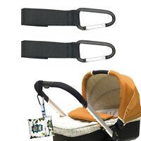 4x Shopping Bag Hook For Buggy Pram Pushchair Stroller Clips Large Hand Carry dj