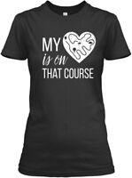 Custom-made Cross Country Mom My Heart Is On T - That Gildan Women's Tee T-Shirt