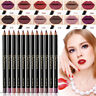 Waterproof Pencil Lipstick Pen Matte Lip Liner Long Lasting Makeup Multifunct