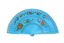 Wooden Hand Fan with Cloth on the Edge