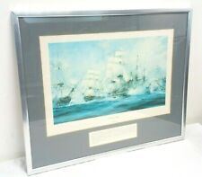 The Battle of Trafalgar Print by Robert Taylor with Metal Frame - Signed