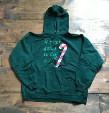 Hanes Ultimate Cotton Hoodie-Hooded Sweatshirt-Unisex-Size L-Green-Christmas-New