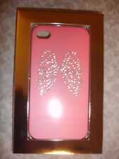 NEW Victoria's Secret  i Phone 4 4S Pink Angel Rhinestone Wings Case