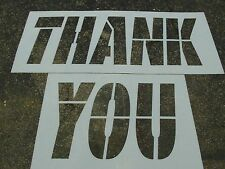 "34"" McDonalds Thank You Stencils 1/16"" Parking Lot Striping Road Marking Stencil"