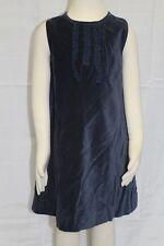 JACADI Girls Relaxer Navy Blue Sleeveless Cotton Velour Dress SZ 2 Years NWT $98