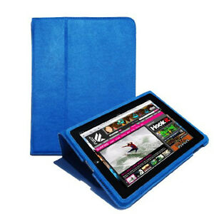 Gumdrop Blue Cases Surf Convertible Case for Apple iPad 1 Generation Faux Suede