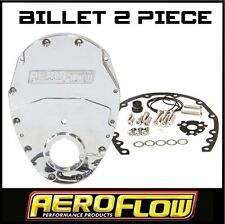 AEROFLOW BILLET CHEV 2 PIECE TIMING COVER V8 DRAG CAR 327 350 400 AF64-4350P