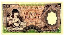 Indonesia  ... P-62 ... 1000 Rupiah ... 1958 ... *VF+*  Replacement Prefix X