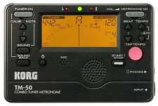 Korg TM-50 BK Tuner Metronome Tone Trainer Black