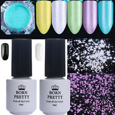 7Pcs Nail Glitter Powder & Mirror Pearl Mermaid UV Gel Polish Decor Born Pretty