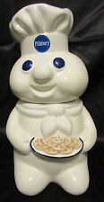 Pillsbury Doughboy Cookie Jar 1997 Holding A Plate Of Cookies Benjamin & Medwin